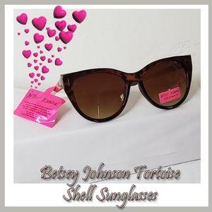 Betsey Johnson Tortoise Shell Sunglasses